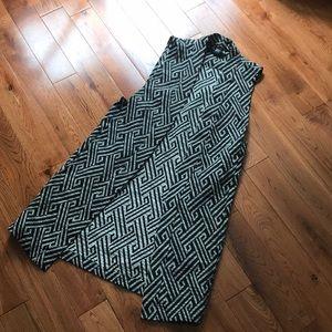 Long Black + White Vest
